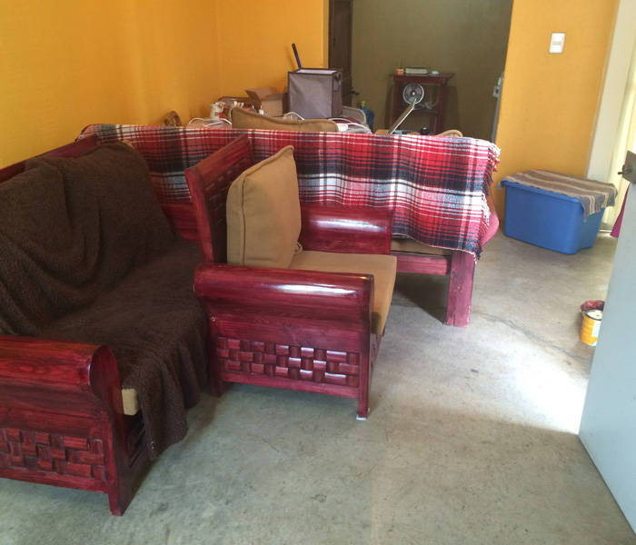 Move furniture... check!