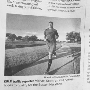 Fitness Profile (& traffic reporter) Michael Scott finds solid ground in running