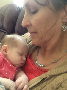 "photo of ""BeeBee"" and grand baby"