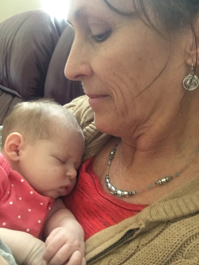 """photo of """"BeeBee"""" and grand baby"""