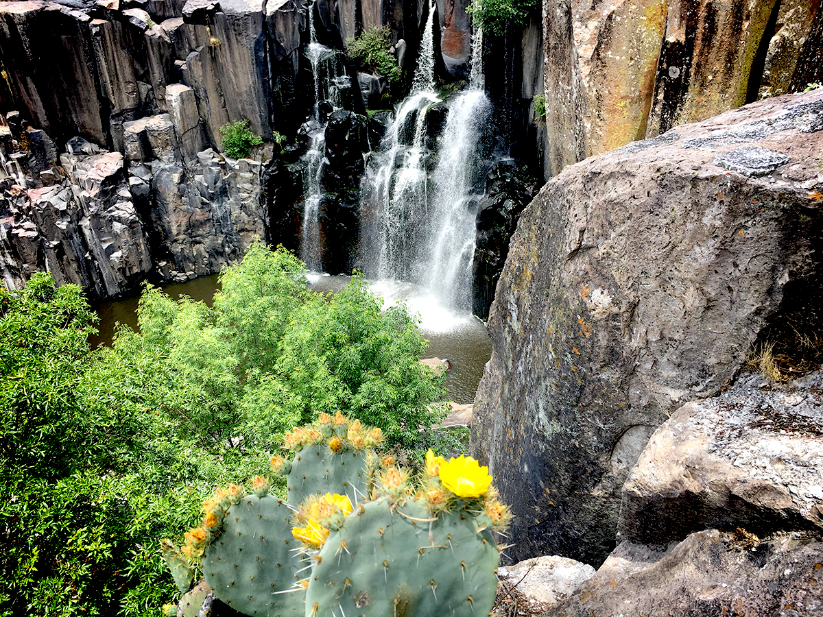 Waterfall near Tina's home in Amealco.