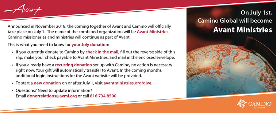 Avant Camino Merger Information