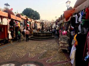 Market in downtown Puebla, Mexico