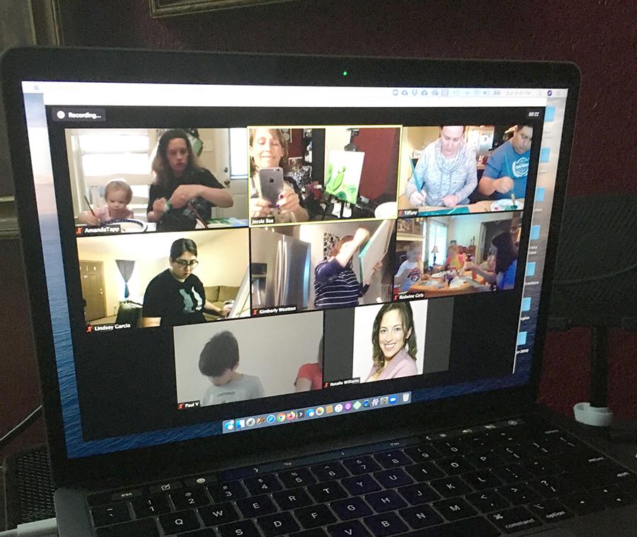 Zoom meeting screen.